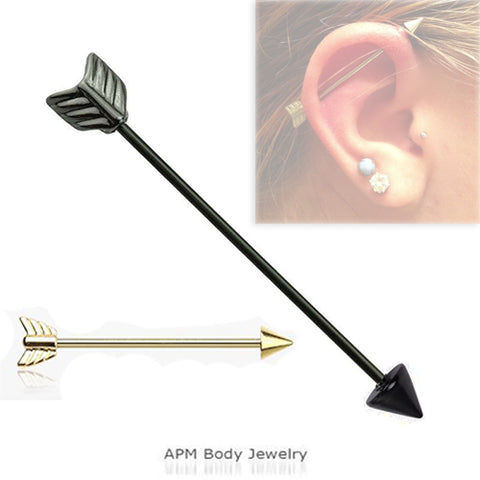 Body Piercing Jewelry Wholesale I Titanium Arrow Industrial Barbell