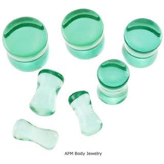 Emerald Quartz Saddle Plugs