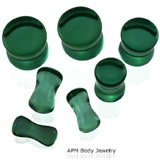 Green Agate Saddle Plugs