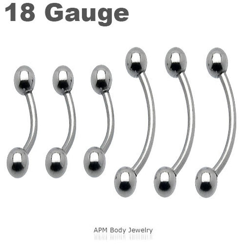 18G Steel Ball Eyebrow Ring