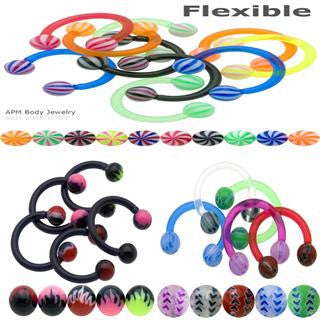 14G Mix Flexible Ball Horseshoes