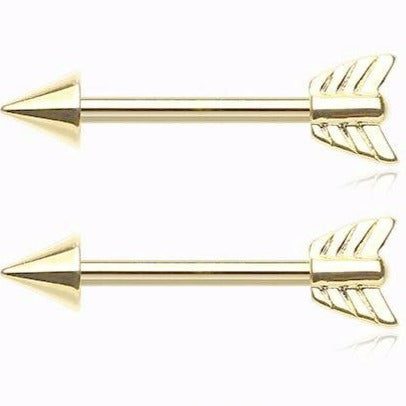 Gold Arrow Nipple Steel Barbell