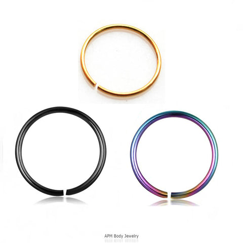 Wholesale Body Jewelry Titanium Clip On Nose Hoop