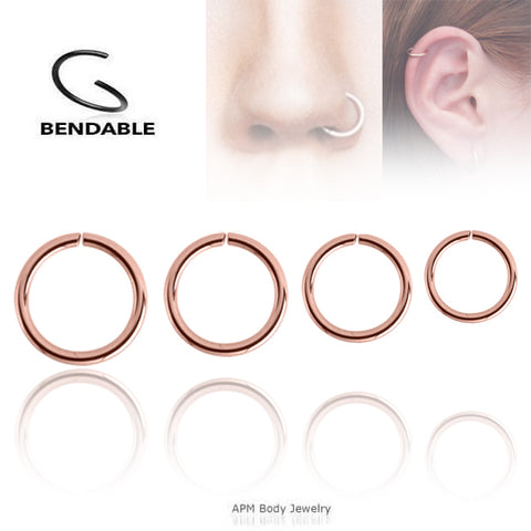 Wholesale Body Jewelry Rose Gold Nose Hoop Ring