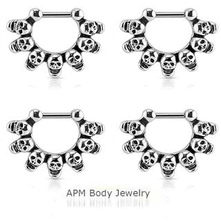 Skulls Septum Clicker