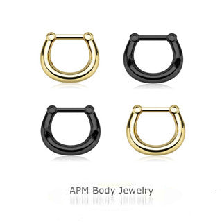 Black & Gold Septum Clicker