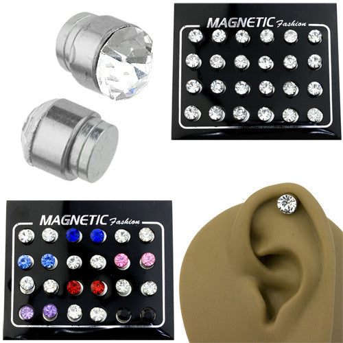 Magnetic CZ Cheater Ear Plugs 6mm