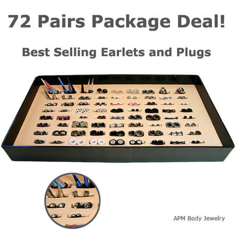 144pc Ear Jewelry Pack with Display Package