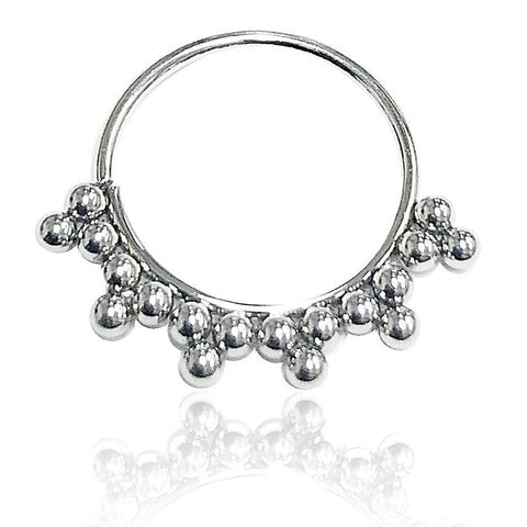 Steel Beaded Bendable Septum Tragus Hoop