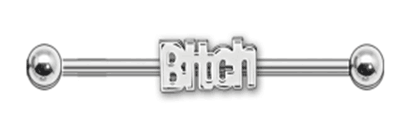 Steel Bitch Logo Industrial Barbell