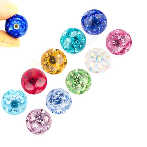 Epoxy Coated Ferido Multi CZ Crystal Loose Ball