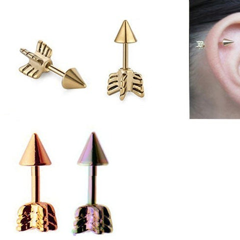 Titanium 3D Arrow Tragus Barbell