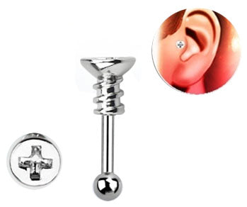 Steel Phillips Screw Tragus Barbell