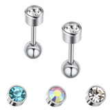 CZ Tragus Cartilage Barbell