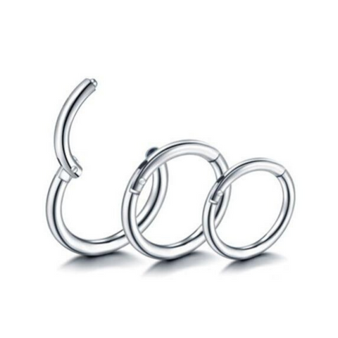 18G 16G 14G Steel Hinged Segment Clicker Ring