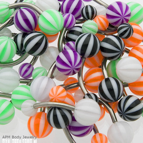 Beach Ball Belly Rings
