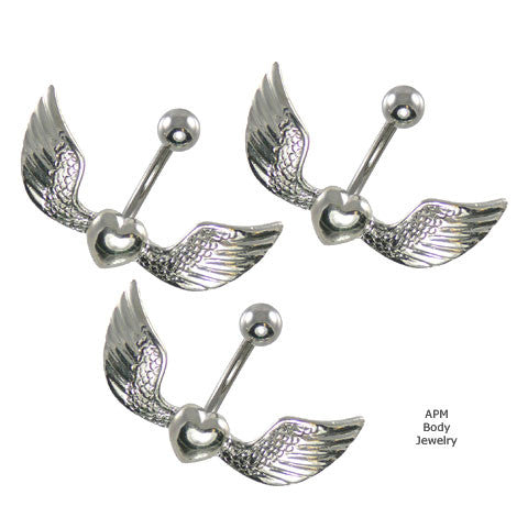 Angel Heart Belly Ring