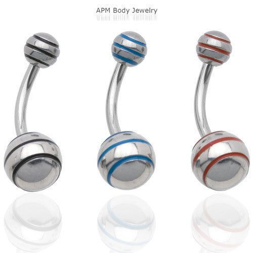 Epoxy Stripe Belly Ring