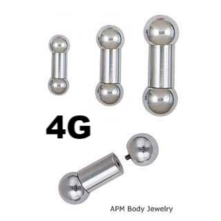 4G Internally Threaded Barbell