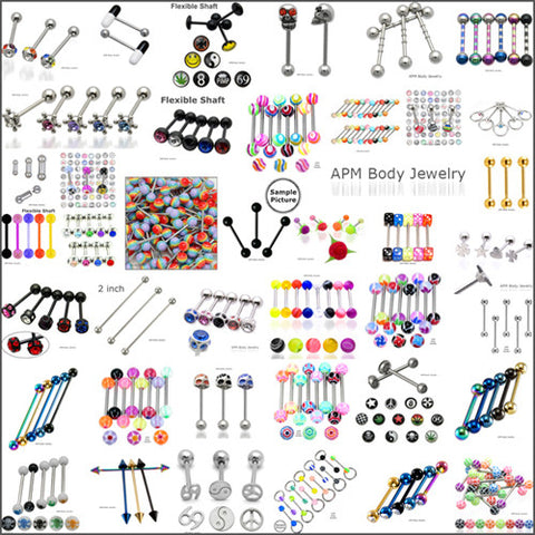 Starter 20pc Tongue Barbell Assortment Package