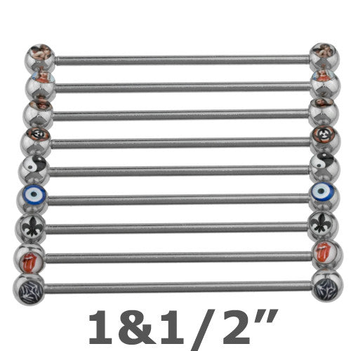 Double Logo Industrial Barbell