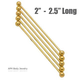Gold Titanium Industrial Barbell 2 - 2.5in