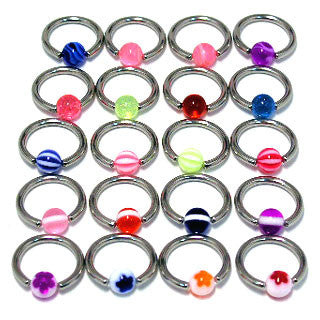 Top Mix Novelty Captive Rings