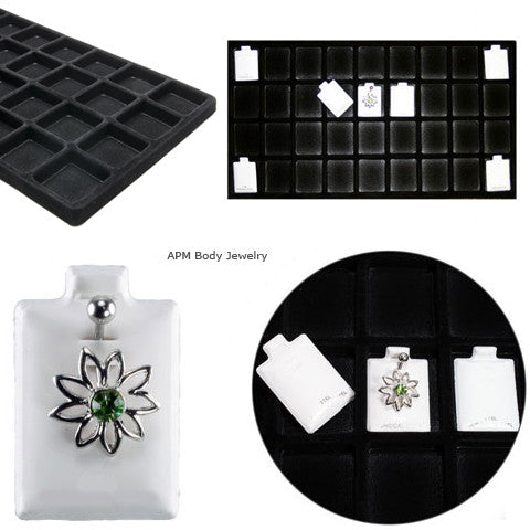 Body Jewelry Retail Inserts with Tray