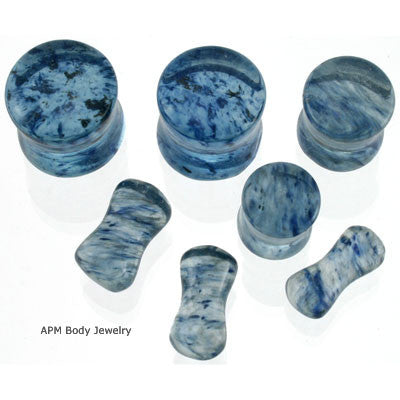 Capri Murano Glass Saddle Plugs
