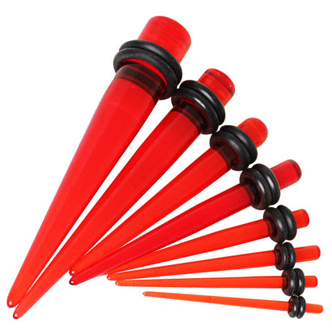 Red UV Acrylic Tapers