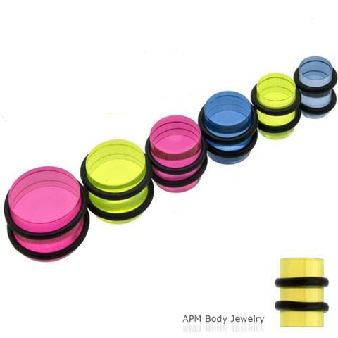 Mix Color Acrylic O-Ring Plugs