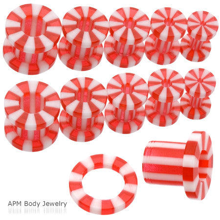 Red Candy Stripe Screw Tunnel