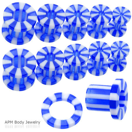 Blue Candy Stripe Screw Tunnel