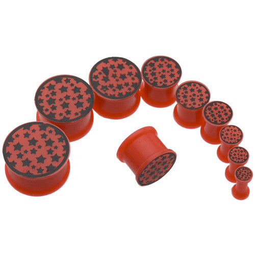Red Star Silicone Plugs