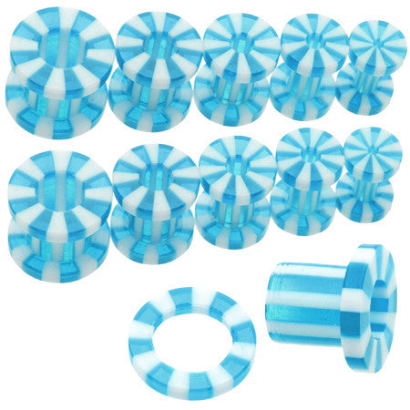 Aqua Candy Stripe Screw Tunnel
