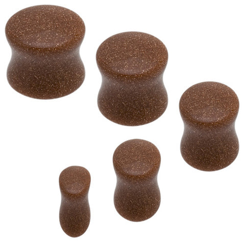 Gold Sand Stone Saddle Plugs