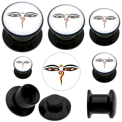 Acrylic Buddha Eye Stash Screw Plug