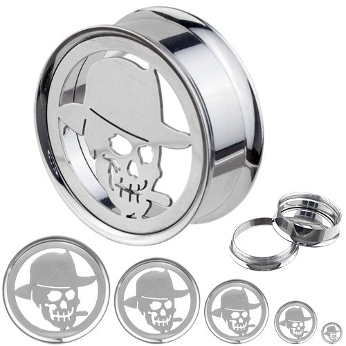 Giant Smoke Skull Plate Top Screw On Tunnel
