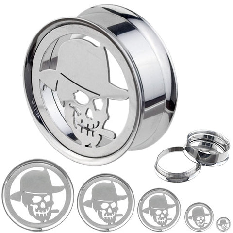 Giant Smoke Skull Plate Screw Fit Tunnel