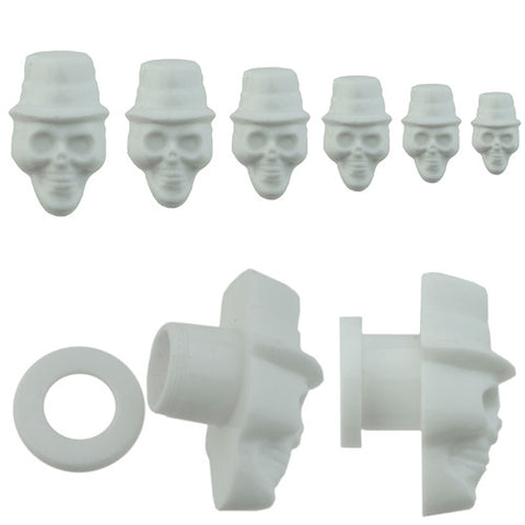 White 3D Skull Screw Plug