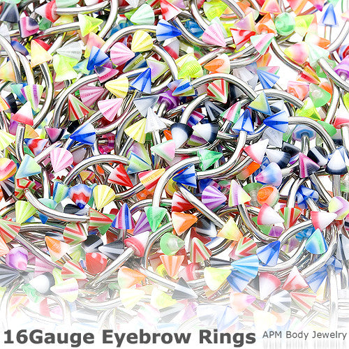 Assorted Spike Eyebrow Ring