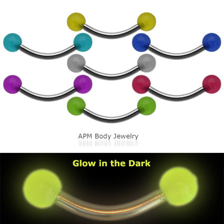 Glow in the Dark Eyebrow Ring