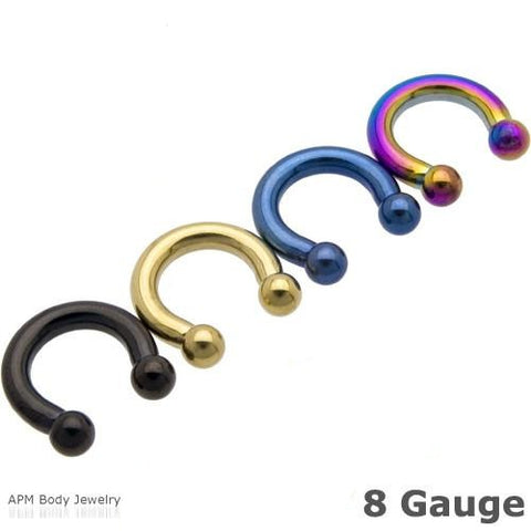 8G Titanium Ball Horseshoe