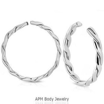 Wholesale Body Jewelry Steel Braided Clip On Hoop