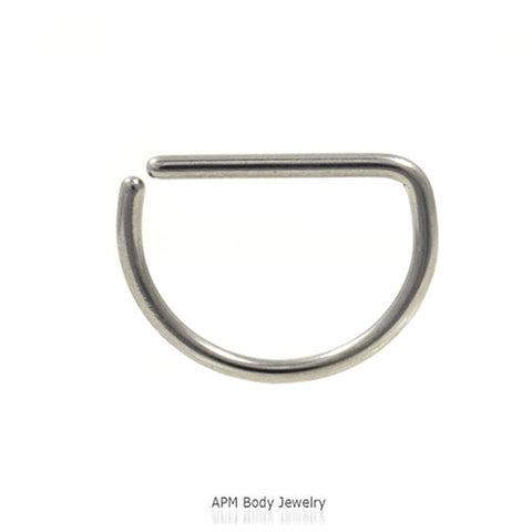 D Shaped Steel Septum Ring