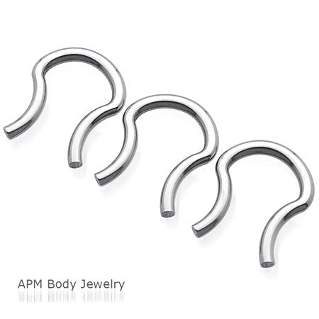 16G 14G Steel Nose Septum Retainer