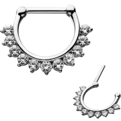 Prong Set 11 CZ Septum Clicker