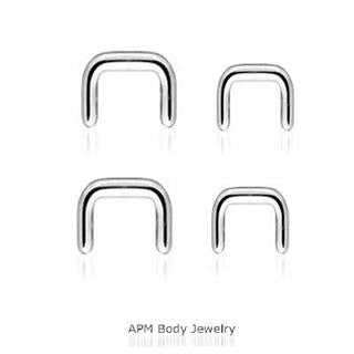 14G 16G Steel Septum Retainer
