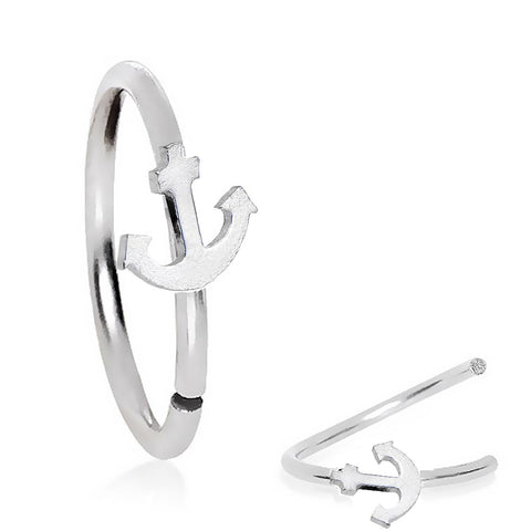 Steel Anchor Bendable Septum Tragus Hoop
