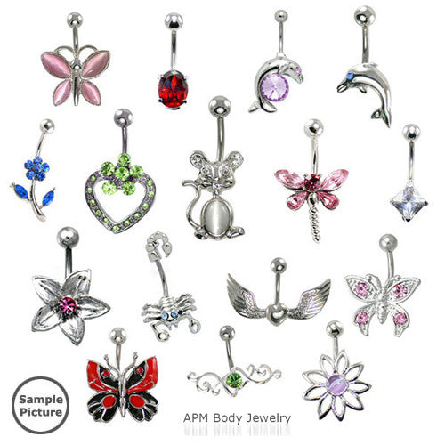 Top Mix 12pc Non-Dangle Belly Rings